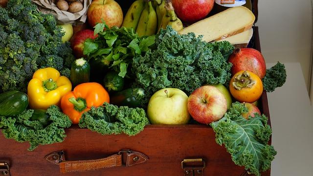 kufr zeleniny